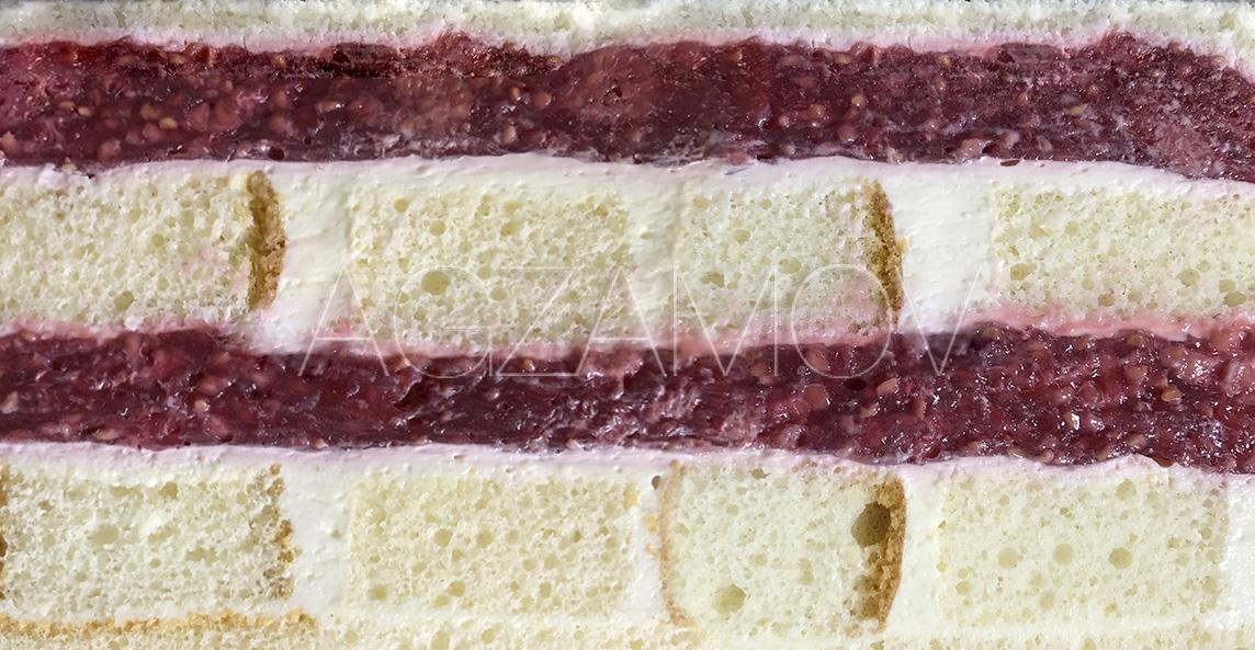 Малиновый шифон торт рецепт